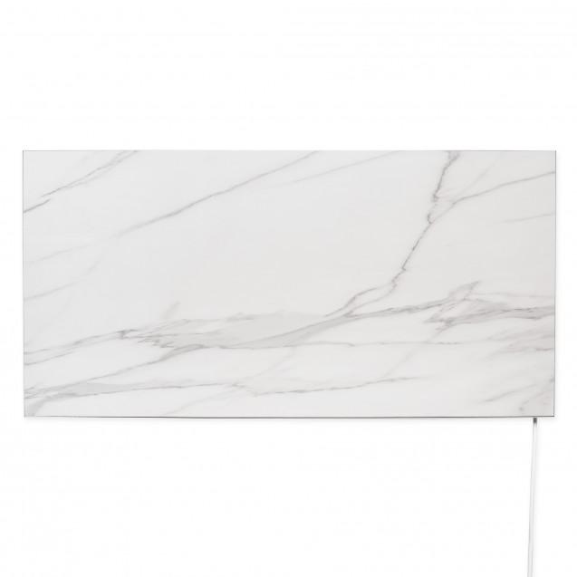 Керамическая отопительная панель 600 Вт на 12 кв. м, FLYME 600РW, белый мрамор