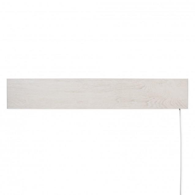 Керамическая отопительная панель 420 Вт на 10 кв.м, FLYME 420РW, белый - светлое дерево