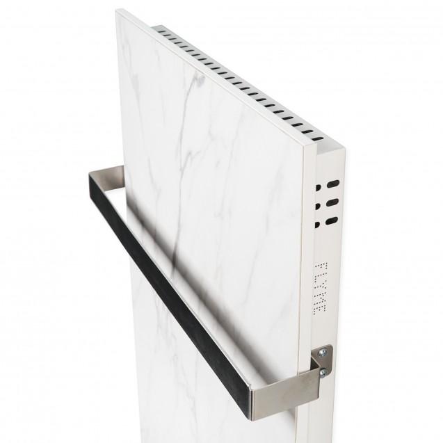 Керамическая отопительная панель FLYME 600Т белый мрамор, Полотенцесушитель