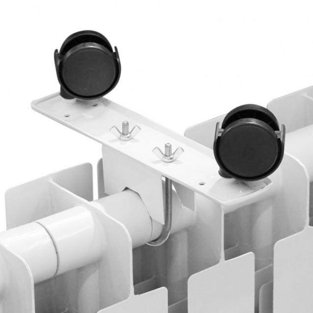 Ножки металлические с колесиками для электрорадиаторов ERAFYME, белые