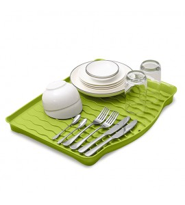 Cушка-поддон для посуды без органайзера настольная, зеленая MVM DR-01 GRIN