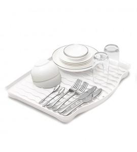 Cушка-поддон для посуды без органайзера настольная, белая MVM DR-01 WHITE
