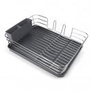 Cушка для посуды з органайзером настольная, серая MVM DR-02 GRAY