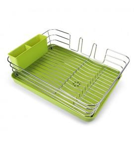 Cушка для посуды с органайзером настольная, зеленая MVM DR-02 GRIN