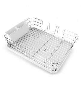 Cушка для посуды с органайзером настольная, белая MVM DR-02 WHITE