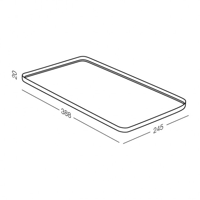 Cушка-поддон для посуды без органайзера настольная, зеленая MVM DR-04 GRIN