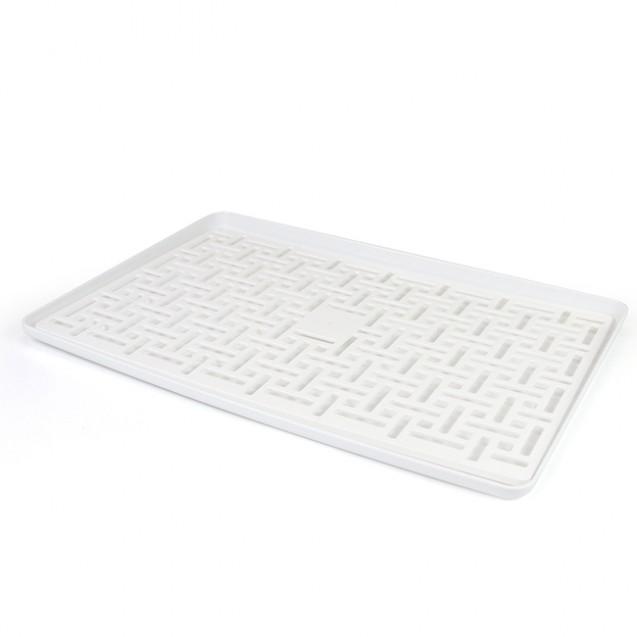 Cушка-поддон для посуды без органайзера настольная, белая MVM DR-04 WHITE