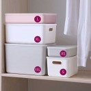 Ящик для хранения пластиковый, розовый с крышкой MVM FH-11 PINK S