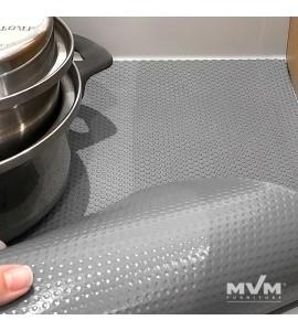 Антискользящий защитный коврик для кухонных полок и ящиков MVM DM-1200 G, серого цвета