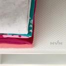 Антискользящий защитный коврик для кухонных полок и ящиков MVM DM-1200 W, белого цвета
